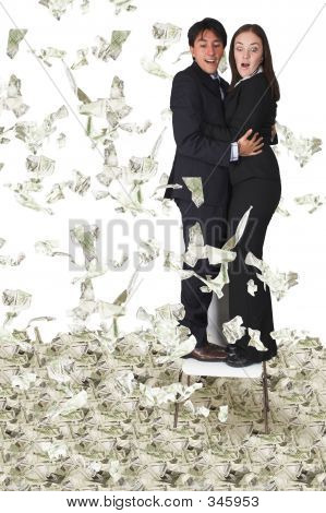 Business Couple With Lots Of Money