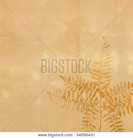Antique Paper with Fern Impression