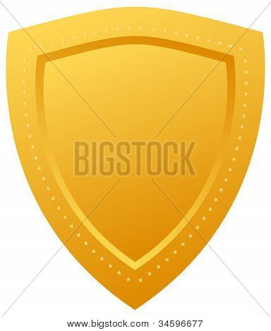 Vector gold shield
