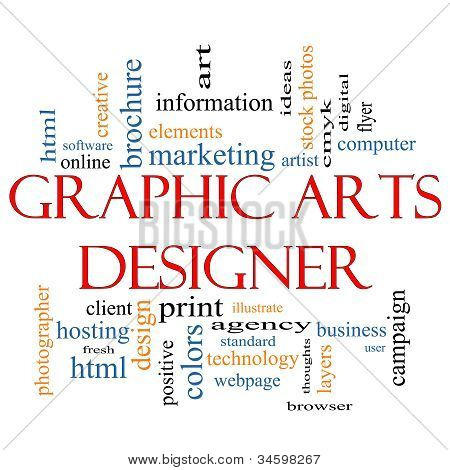 Graphic Arts Designer Word Cloud Concept