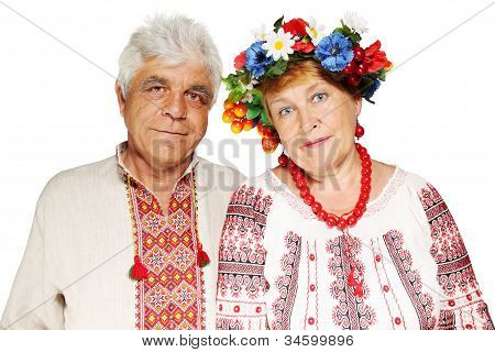 Elderly Ukrainian Couple