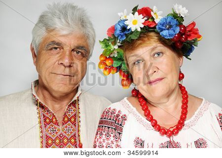 Portrait Of An Elderly Couple