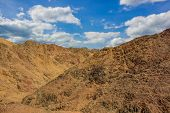 Gorgeous Picturesque Desert Landscape Scenic View Sand Stone Rocks Wilderness Environment With Vivid poster