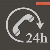24h Call Center - Help Icon, Technical Support. Icon, Computer Service Support, Tech Support Concept poster