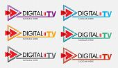 Digital Tv Logo Template. Media Company Logo Or Film Production Studio Or Audio-visual Studio Or On- poster