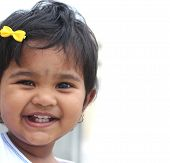 pic of cherub  - Photo of pretty and happy indian baby girl with expressive eyes and photogenic face expressing toddler - JPG