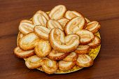 Palmier Biscuits - French Cookies Made Of Puff Pastry (also Called Palm Leaves, Elephant Ears Or Fre poster