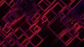 3d Rendering Of Abstract Glow Squares And Lines. Computer Generated Web Background poster