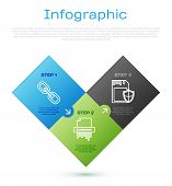 Set Line Chain Link , Sd Card And Shield And Paper Shredder Confidential. Business Infographic Templ poster