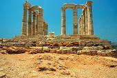 stock photo of poseidon  - Ancient Greek temple of Poseidon  - JPG