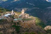 Armenia. Tatev Monastery Against The Backdrop Of A Majestic Landscape. poster