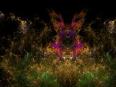 Imaginatory Lush Fractal Texture Generated Image Abstract Background poster