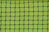 foto of deuce  - Tennis net on a green grass court - JPG