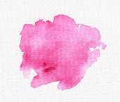 Isolated Abstract Watercolor Spot For Wedding Design And Valentines Day. Pink, Magenta. poster