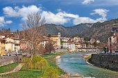 Santa Sofia, Forli Cesena, Emilia Romagna, Italy: Landscape Of The Ancient Town With The Picturesque poster