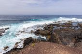 Scenic View At The Coastline In The Natural Park Of Jandia (parque Natural De Jandina) On Canary Isl poster