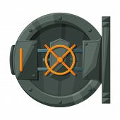 Door Of Storage Vector Icon.cartoon Vector Icon Isolated On White Background Door Of Storage . poster