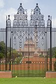 picture of rashtrapati  - Wrought iron gates to Rashtrapati Bhavan  - JPG