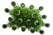 picture of alcoholic beverage  - Empty Beer Bottles Isolated on White  - JPG