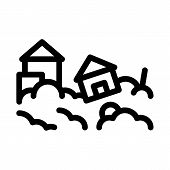 Town Hurricane Icon Vector. Outline Town Hurricane Sign. Isolated Contour Symbol Illustration poster