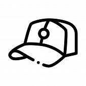Baseball Cap Hat Icon Vector. Outline Baseball Cap Hat Sign. Isolated Contour Symbol Illustration poster