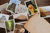 Japan Best Landmark Postcards Collage poster