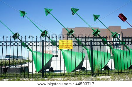Green buoys