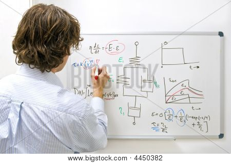 Engineer At Whiteboard