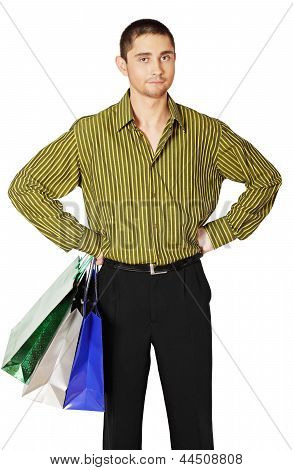 Man With Paper Bags