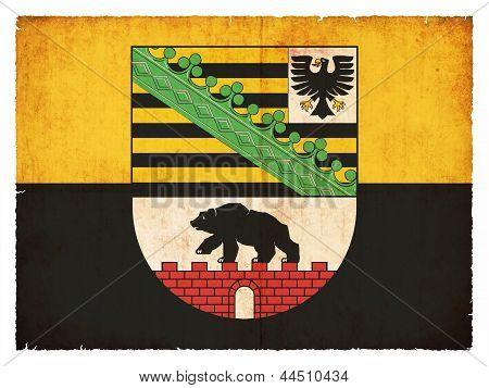 Grunge Flag Of Saxony-anhalt (germany)