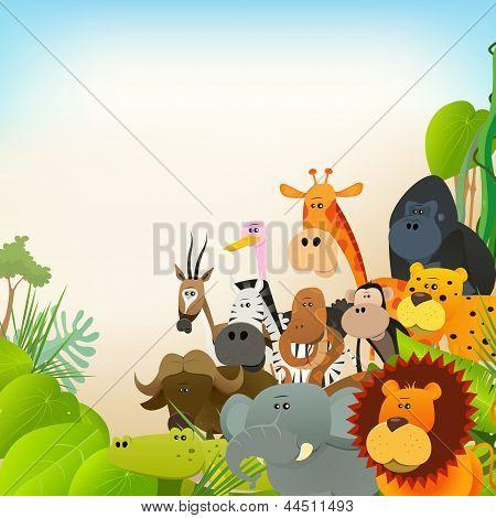 Dieren in het wild dieren achtergrond