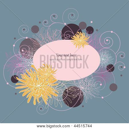 Floral frame.Element for design. Vector illustration