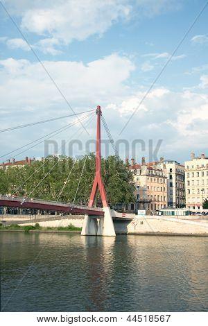 Footbridge Palais De Justice, Lyon, France