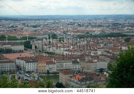 Panorama Of Lyon, Lyon, France