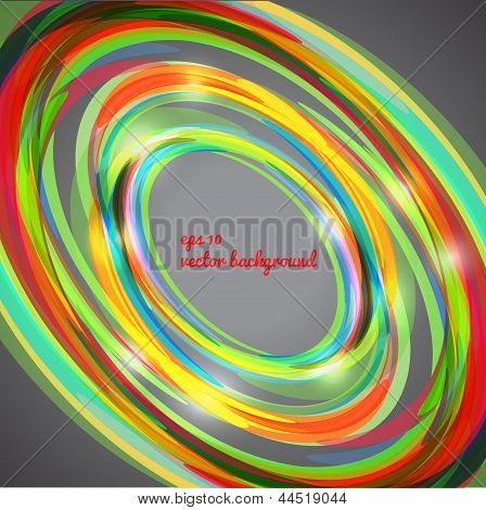 Abstract techno circle background