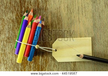 colored pencils with room for text