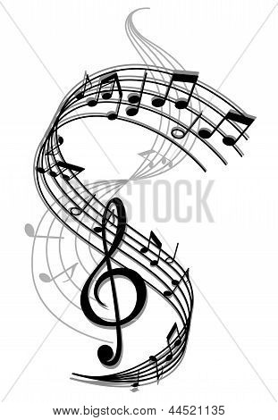 Abstract art music background