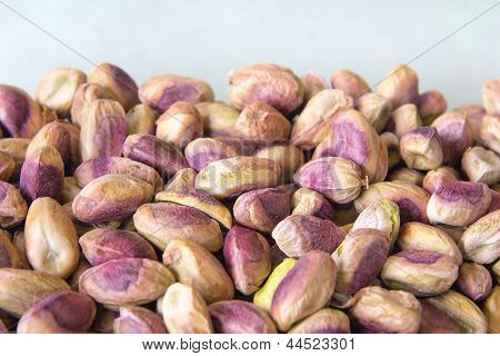 Pistachio Nuts Piled Up