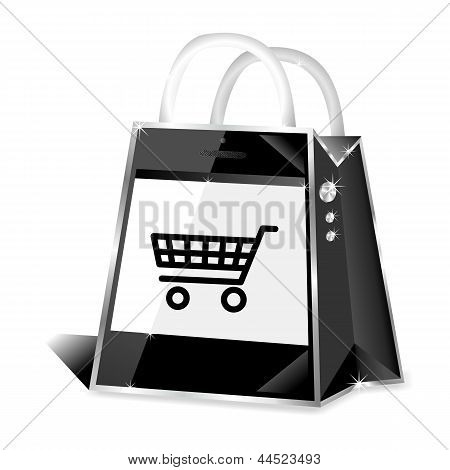 Smartphone m-commerce online shop icon