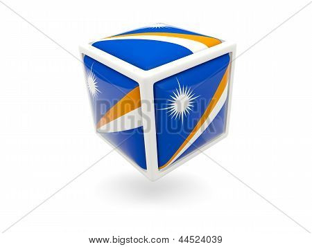 Flag Of Marshall Islands. Cube Icon