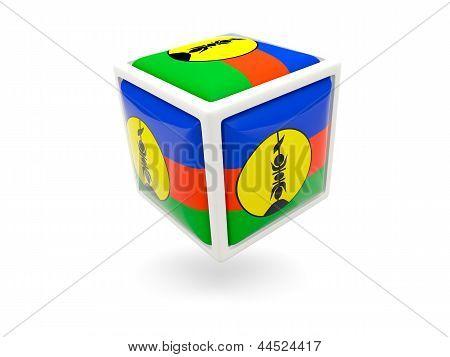 Flag Of New Caledonia. Cube Icon