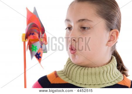 Girl With Windmill