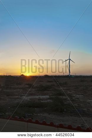 Sunrise shines Windmill Generator
