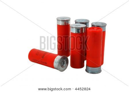 Red 12 Gage Shotgun Shells