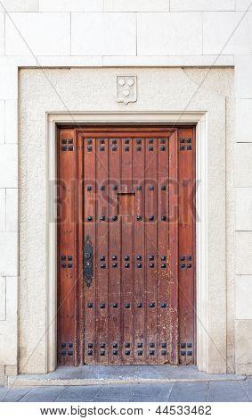 Old Door At Sarri� Quarter Of Barcelona