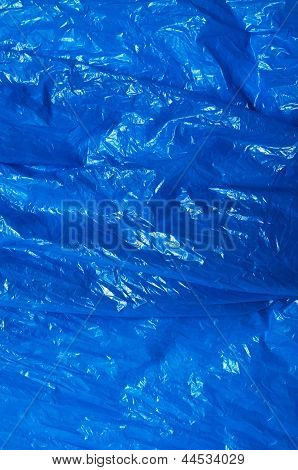 A Blue Plastic Bag Texture, Macro, Background