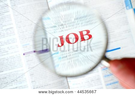 Magnifying Job Word