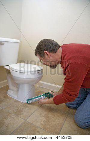 Caulking Toilet