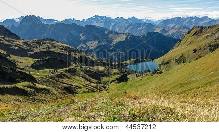 Lake In Alpine Surrounding