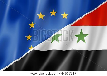 Europe And Syria Flag